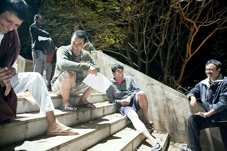 A fun snap of the 3 idiots with director Rajkumar Hirani from Aamir Khan's personal album