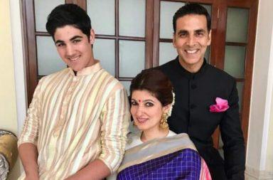 Akshay Kumar, Twinkle Khanna and Aarav (Courtesy: Twitter/@akshaykumar)