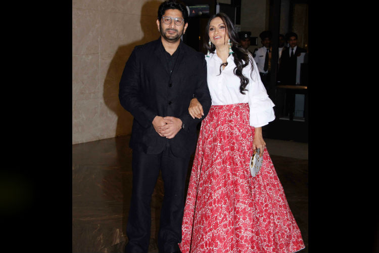 Arshad Warsi with wife at Zaheer Khan and Sagarika Ghatke's engagement ceremony