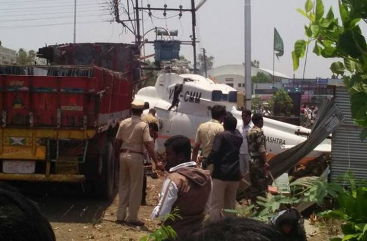 Maharashtra CM's chopper crash lands in Latur