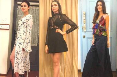 Deepika Padukone, Alia Bhatt and Kriti Sanon at Karan Johar's birthday bash