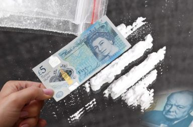 Cocaine, Drugs, Five pound notes, Winstoned, Winston Churchill