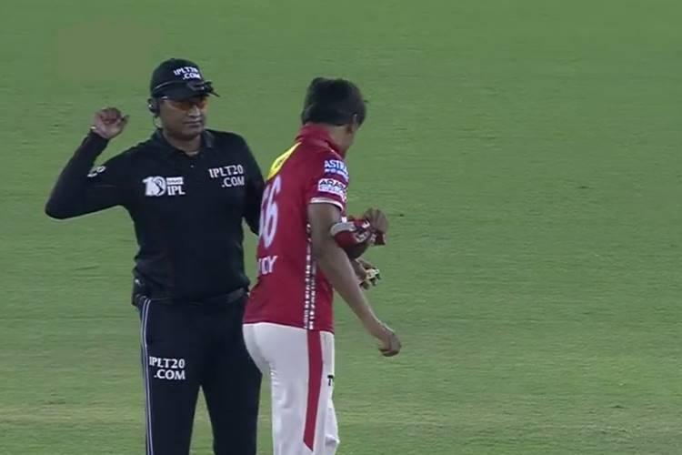 Nand Kishore, Sandeep Sharma, Umpire, KXIP
