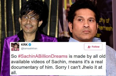 KRK and Sachin Tendulkar, Sachin A Billion Dreams review