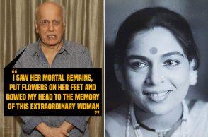 Reema Lagoo and Mahesh Bhatt, Reema Lagoo death