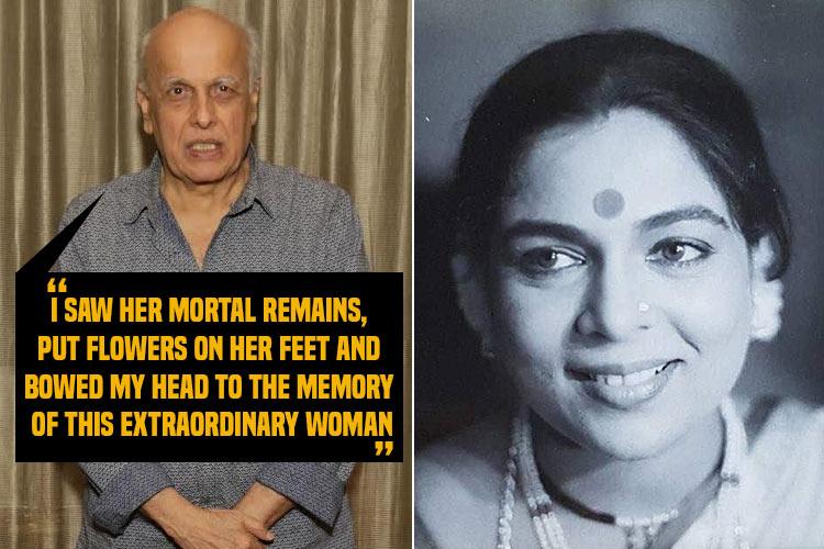 Mahesh Bhatt speaks about his last meeting with Reema Lagoo and how death leaves everythingincomplete