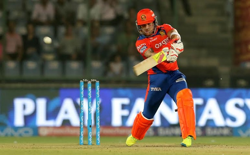 Brendon McCullum of Gujarat Lions in action at the IPL match against Delhi Daredevils at Feroze Shah Kotla stadium in New Delhi on April 27th 2016.Express photo by Ravi Kanojia.
