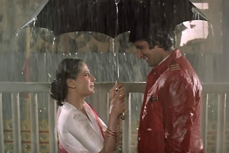 Amitabh Bachchan and Smita Patil in Namak Halaal