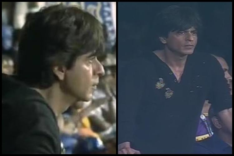 Shah Rukh Khan watching MI vs KKR match