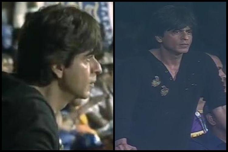 Shah Rukh Khan watching MI vs KKR match