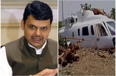 Devendra Fadnavis's helicopter crash lands in Latur