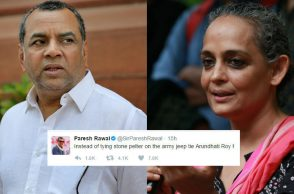 Paresh Rawal tweets on Arundhati Roy