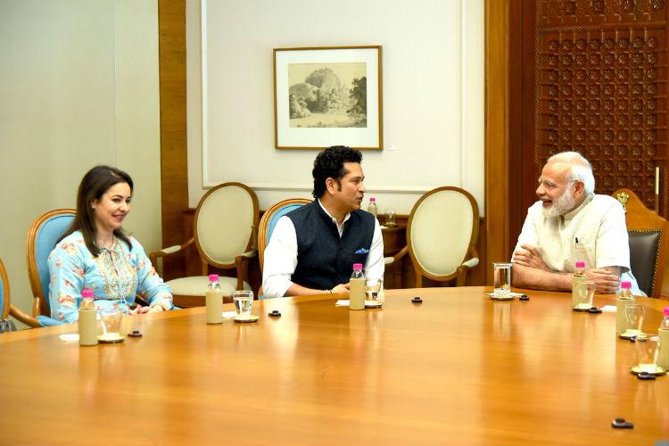 Sachin Tendulkar meets Prime Minister