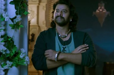 Prabhas in a still from Baahubali