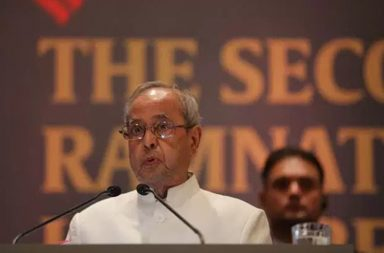 president Mukherjee at Ramnath Goeanka lecture