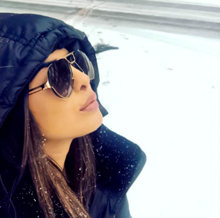 Priyanka Chopra finds some personal time to enjoy snowfall midst her shoot