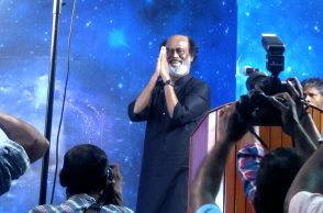 Rajinikanth during fan meet in Chennai