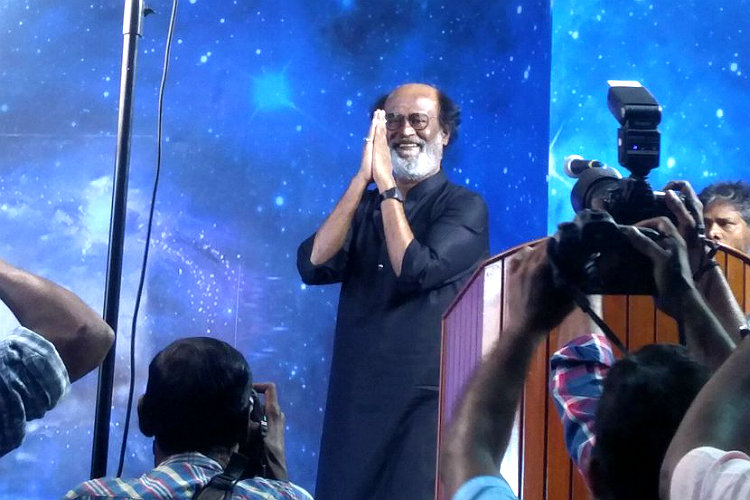 Watch: Rajinikanth addresses Chennai fans after 8 years; talks politics with them