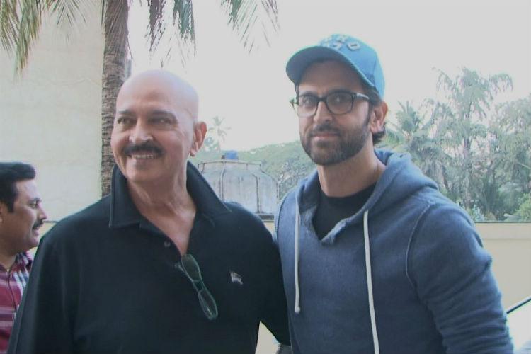 Hrithik Roshan with Rakesh Roshan
