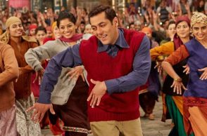Salman Khan on the sets of Tubelight