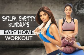 Shilpa Shetty home workout regime