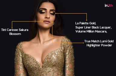 Sonam Kapoor makeup look for Cannes 2017