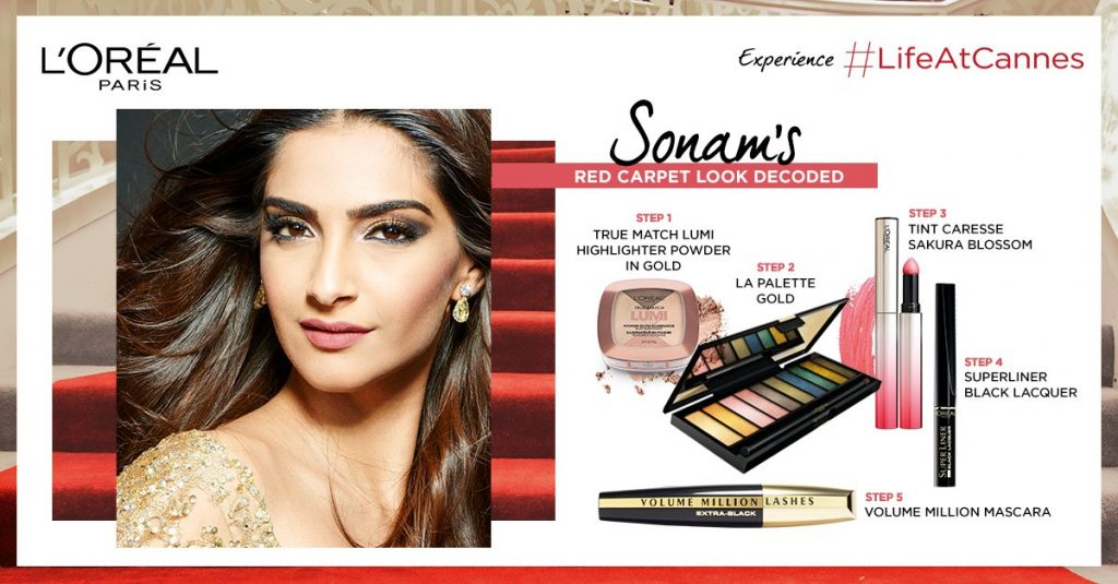 Sonam Kapoor's look at Cannes 2017