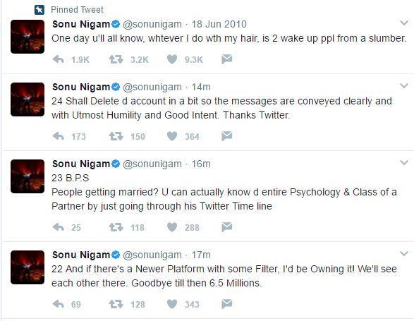 Sonu Nigam's tweets