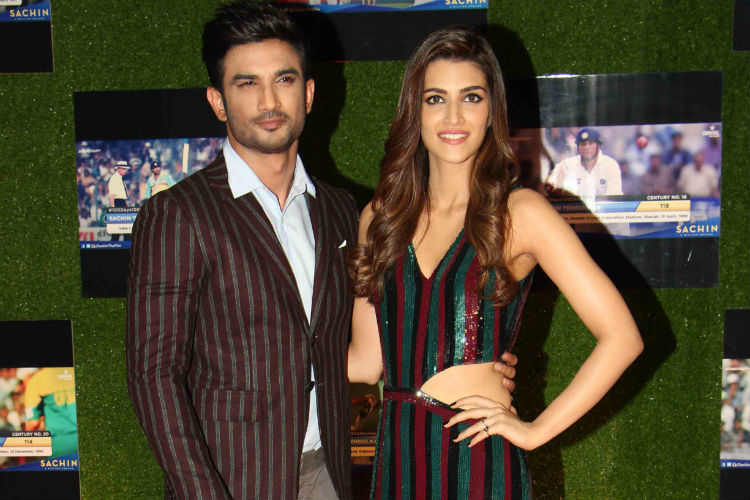 Sushant Singh Rajput with Kriti Sanon, Sachin: A Billion Dreams Premiere