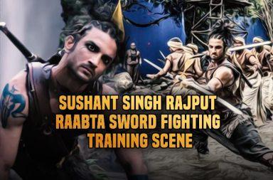 Sushant Singh Rajput Raabta sword fighting scene (Courtesy: Instagram)