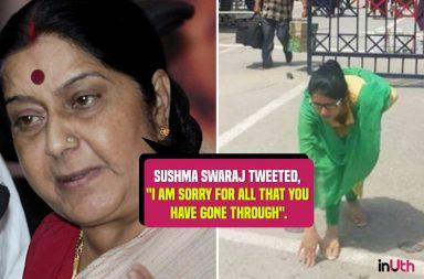 Sushma Swaraj welcomes India's daughter