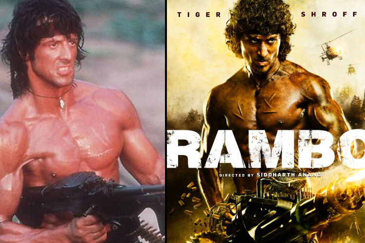Tiger Shroff is playing Indian Rambo and the first poster will remind you of Sylvester Stallone