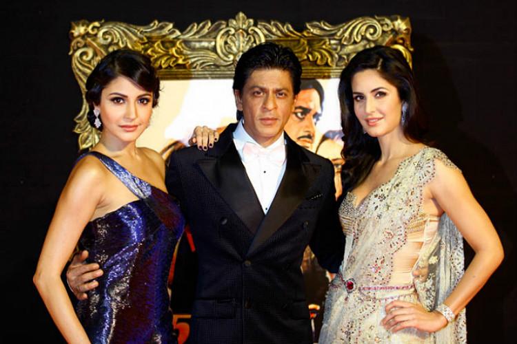 Shah Rukh Khan, Katrina Kaif, Anushka Sharma