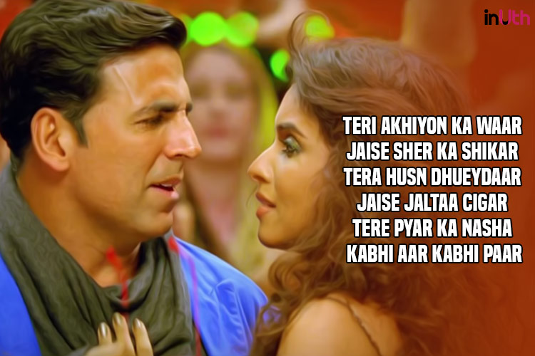 Akshay Kumar, Asin, Hookah Bar, Bollywood lyrics