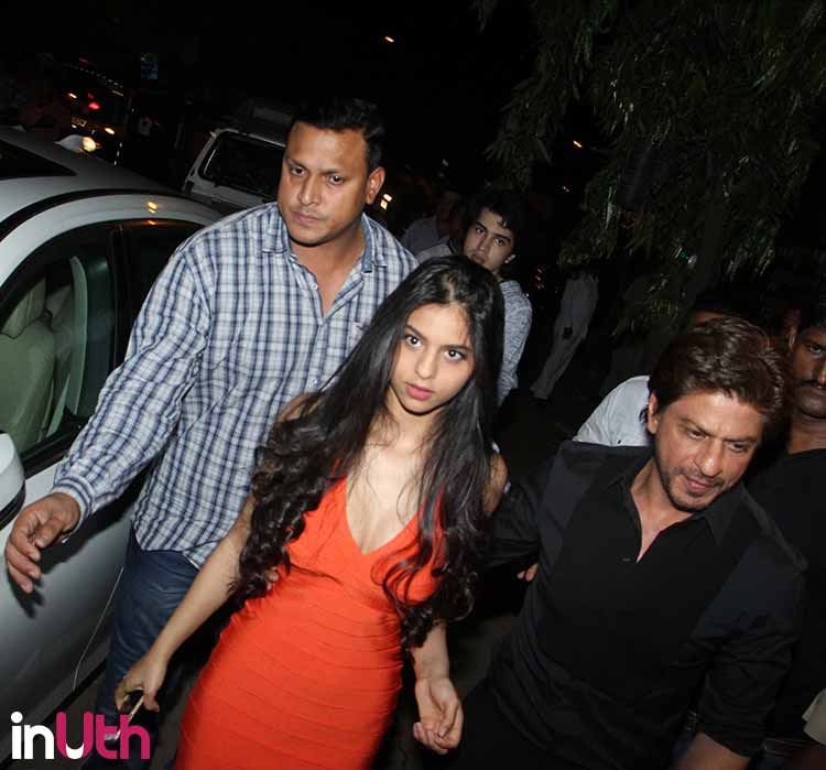 Suhana Khan with her father Shah Rukh Khan