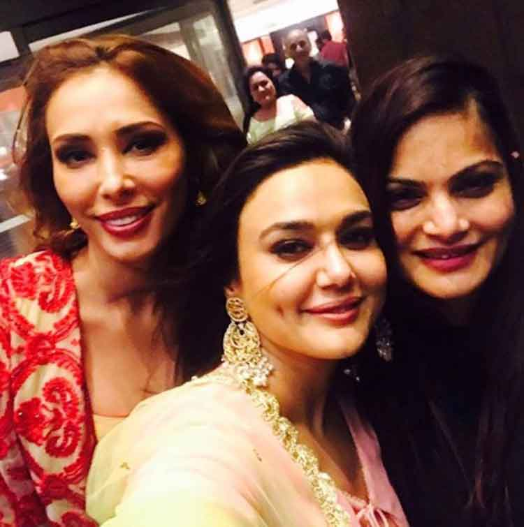 Priety Zinta and Iulia Vantur at Salman Khan's Eid party