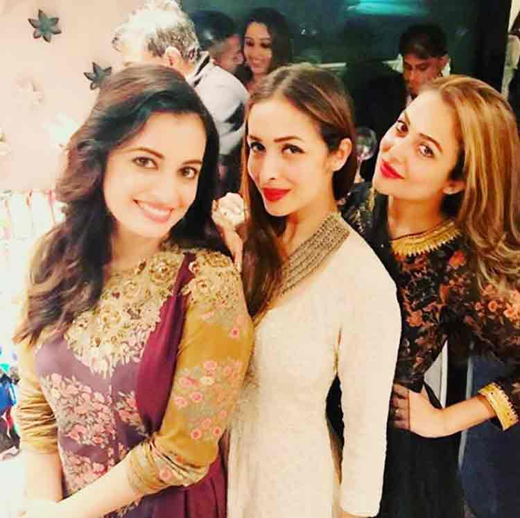 Dia Mirza, Malaika Arora, Amrita Arora at Salman Khan's Eid party