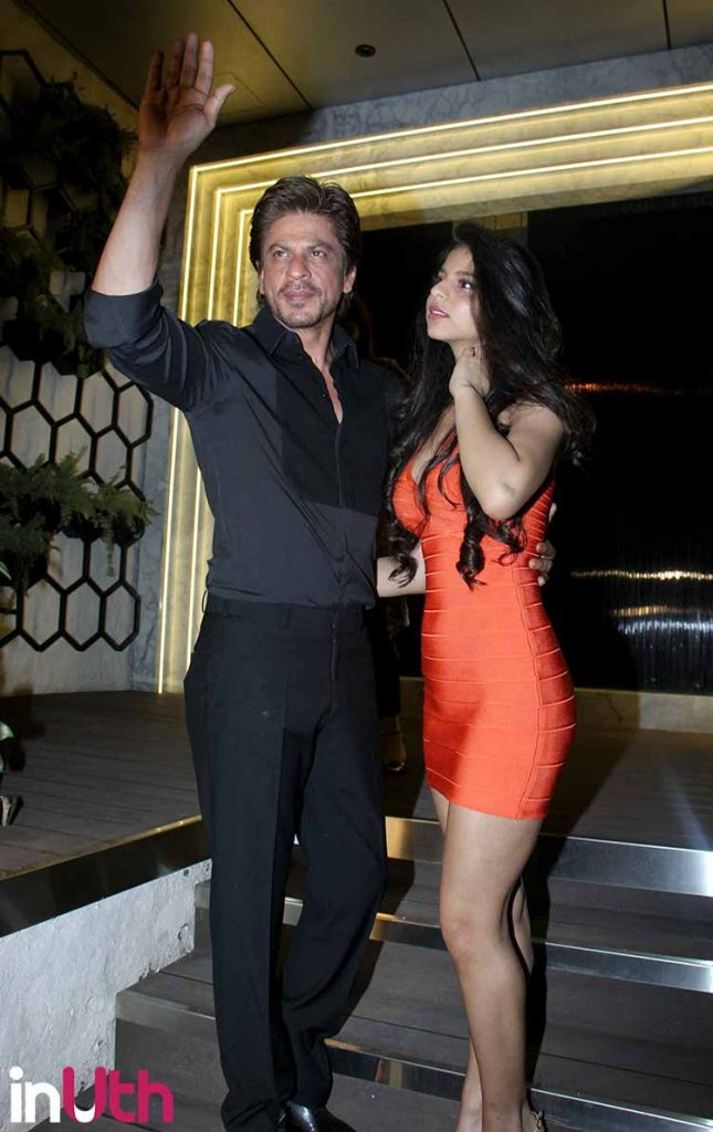 Shah Rukh Khan with Suhana Khan at the launch of Arth lounge bar designed by Gauri Khan