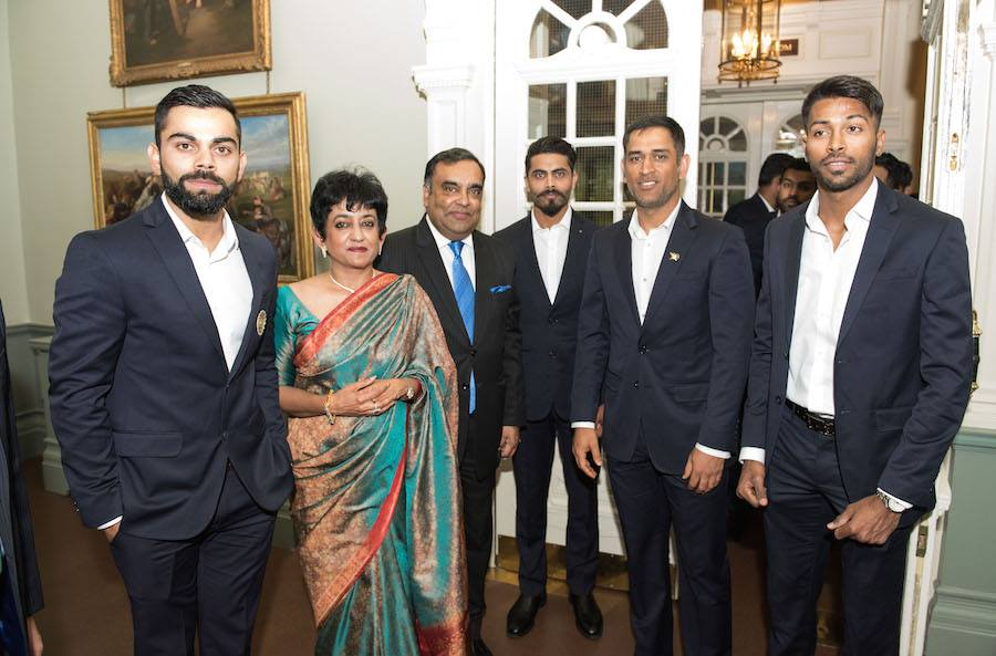 Team India attend dinner at Indian High Commission, UK