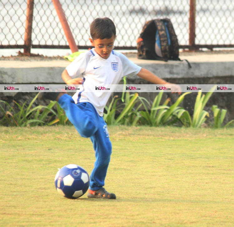 Aamir Khan's son Azad Rao Khan playing football