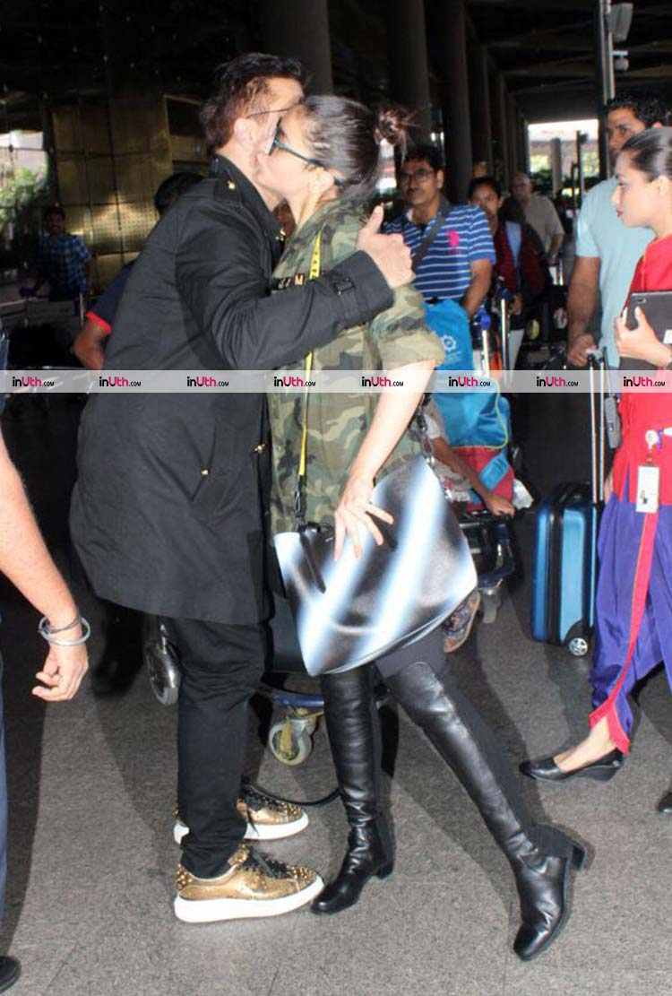 Alia Bhatt and Karan Johar spotted at the airport