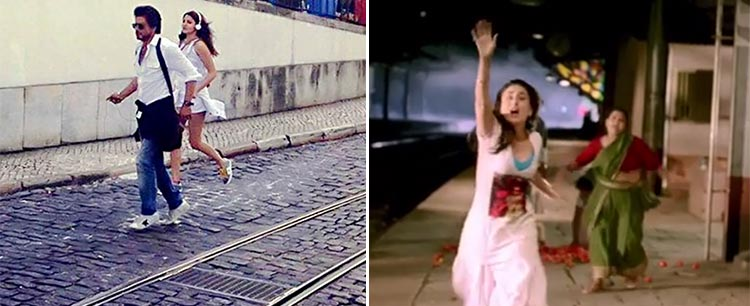 Anushka Sharma is seen running in this photo from Jab Harry met Sejal sets