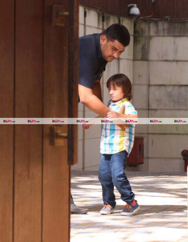 Cute AbRam Khan is a bit grumpy in his latest pic