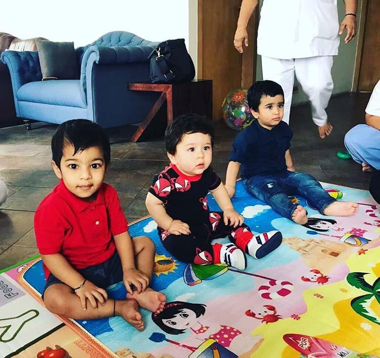 Cute Taimur Ali Khan visits his friends