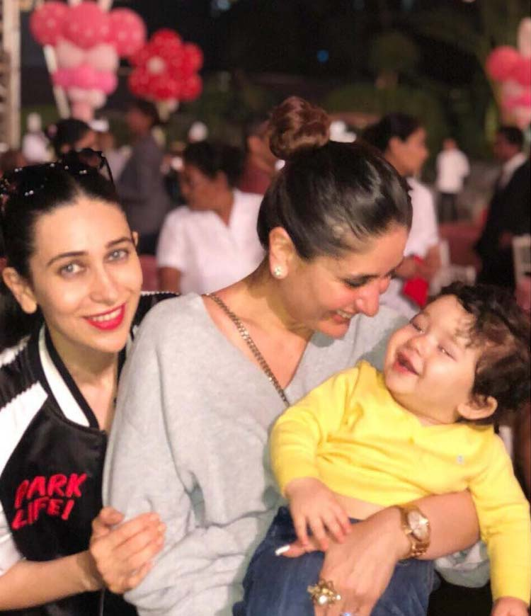 Cute Taimur chilling with mom and maasi at Adira's birthday party
