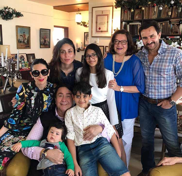 Cutie Taimur celebrating the Christmas with Kapoor's