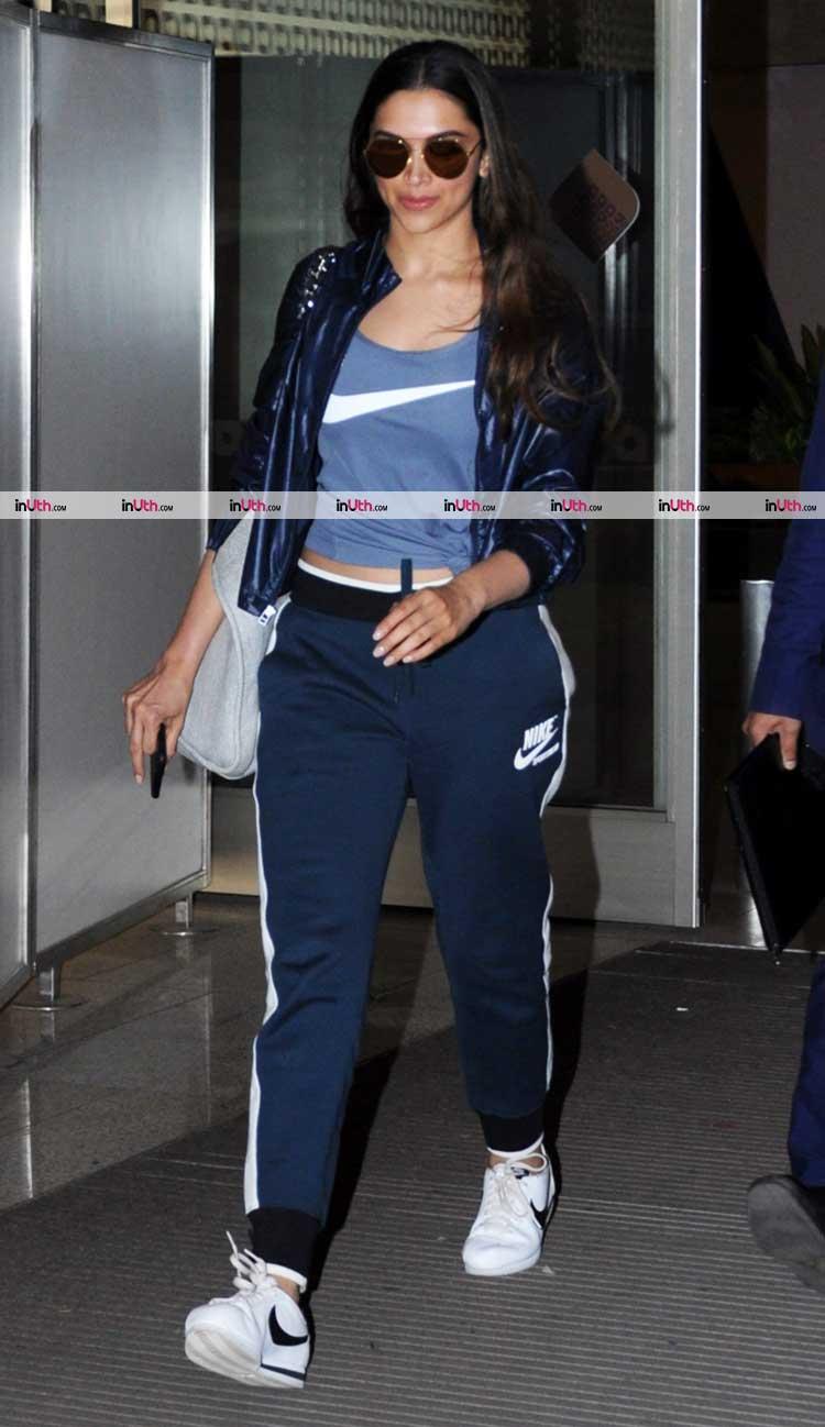 Deepika Padukone makes her athleisure the perfect airport look