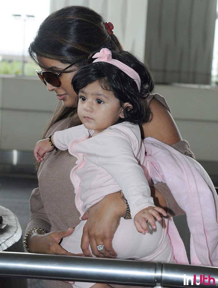 Geeta Basra with her cute daughter Hinaya