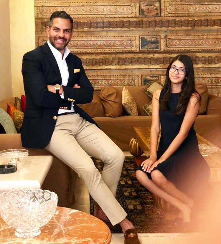 Karisma Kapoor's daughter Samaira with father Sunjay Kapur