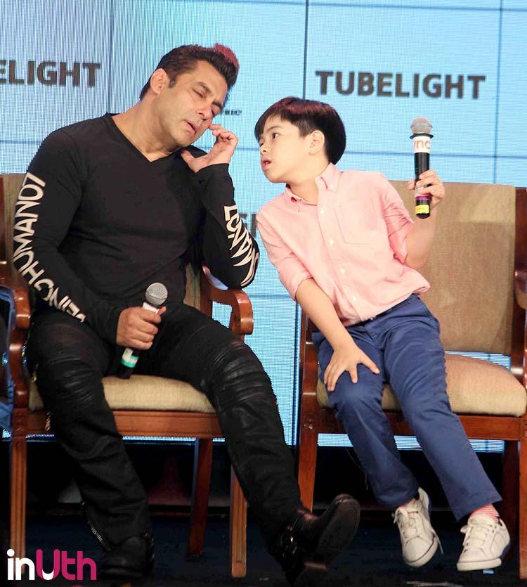 Salman Khan with Tubelight co-star Matin Rey Tangu